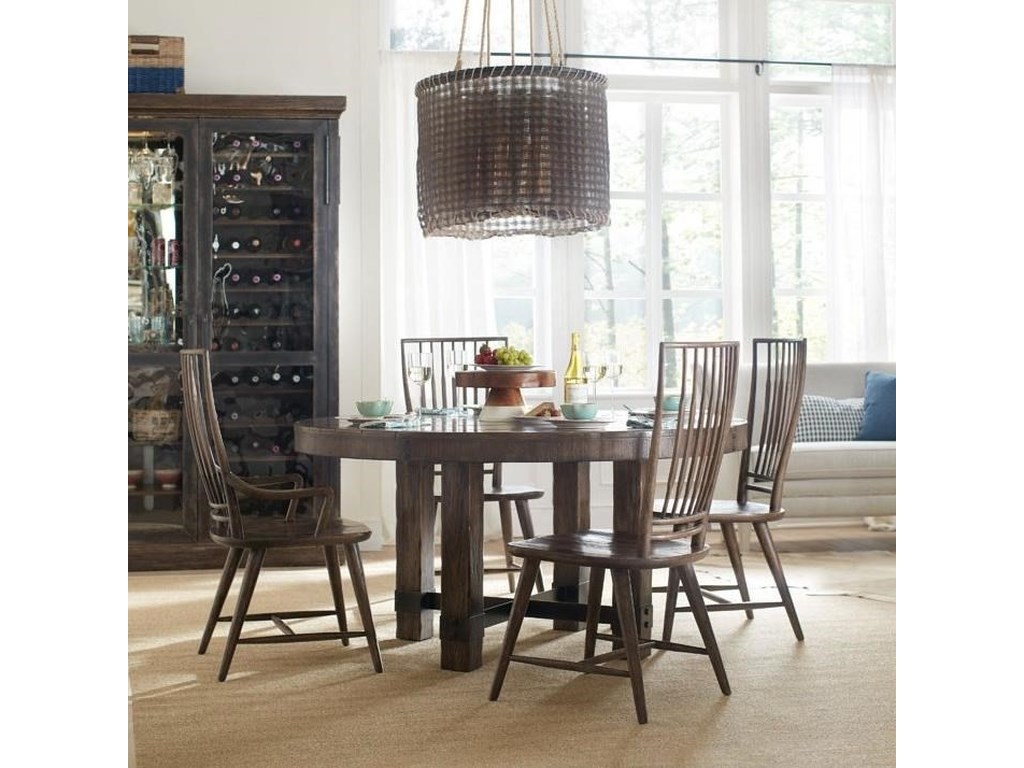 Hooker Furniture American Life - Roslyn CountyRound Dining Table and Chair Set