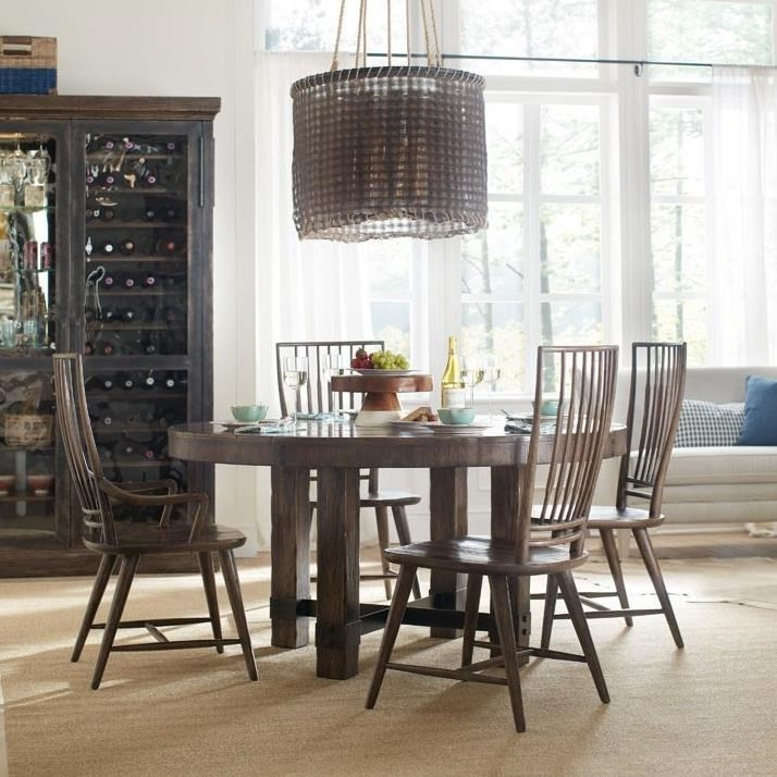 Hooker Furniture American Life   Roslyn CountyRound Dining Table And Chair  Set