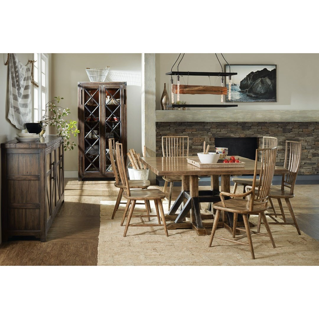 Hooker Furniture American Life   Roslyn CountyTrestle Dining Table And  Chair Set ...