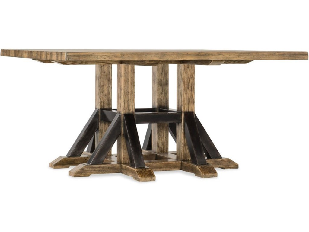 Hooker Furniture American Life - Roslyn CountyAdjustable Height Square Dining Table