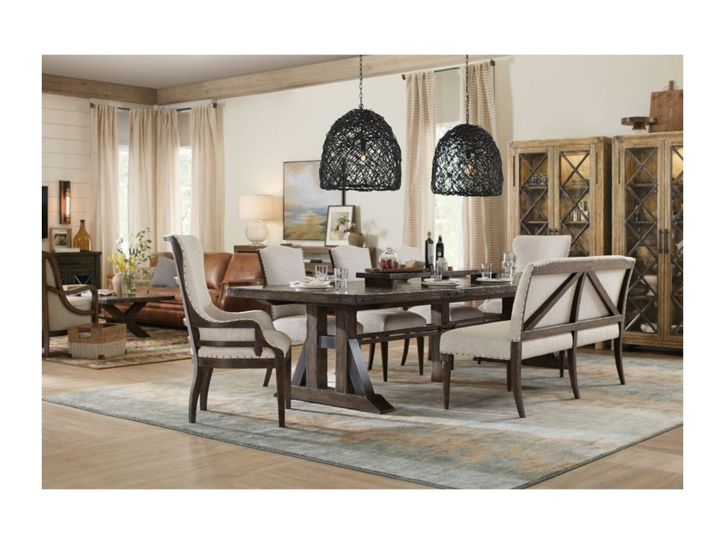 Hooker Furniture American Life - Roslyn County Trestle Dining ...