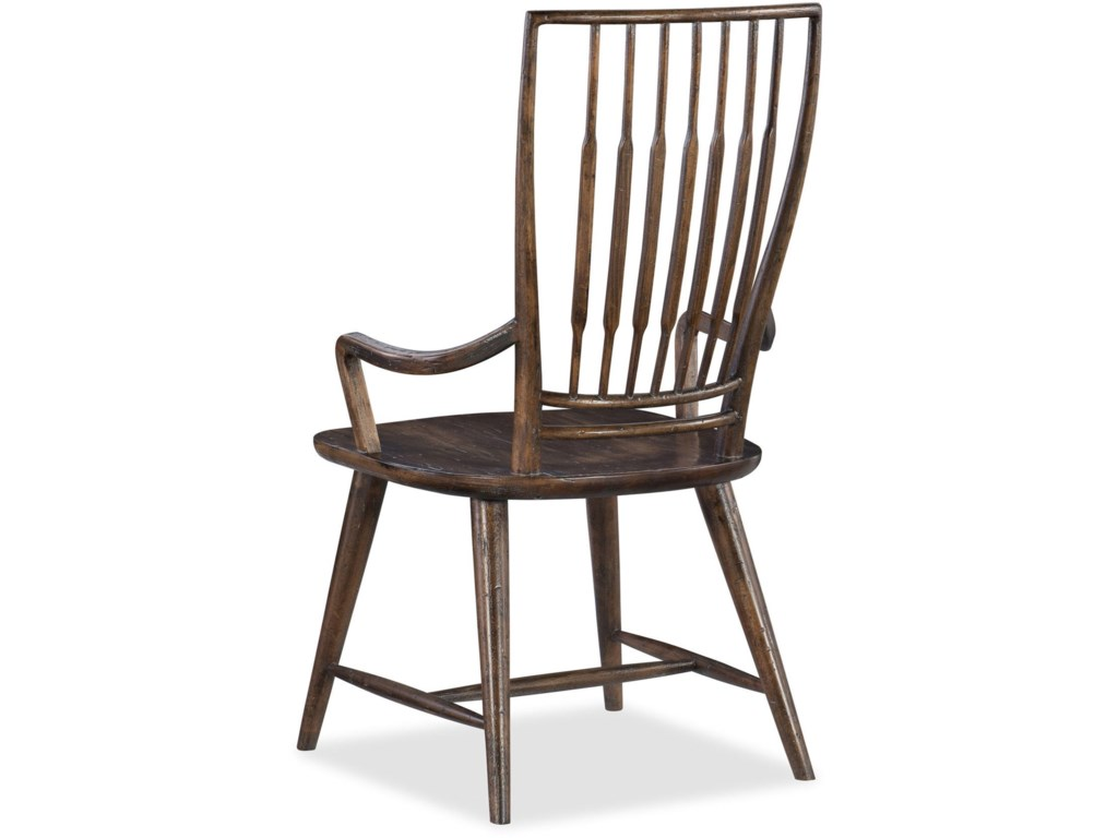 Hooker Furniture American Life - Roslyn CountySpindle Back Dining Arm Chair
