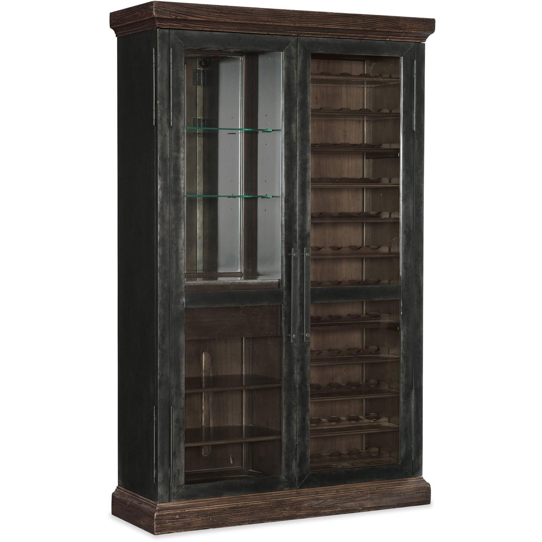 Hooker Furniture American Life Roslyn County Wine Cabinet With Glass Doors Wayside Furniture Wine Racks Wine Cabinets