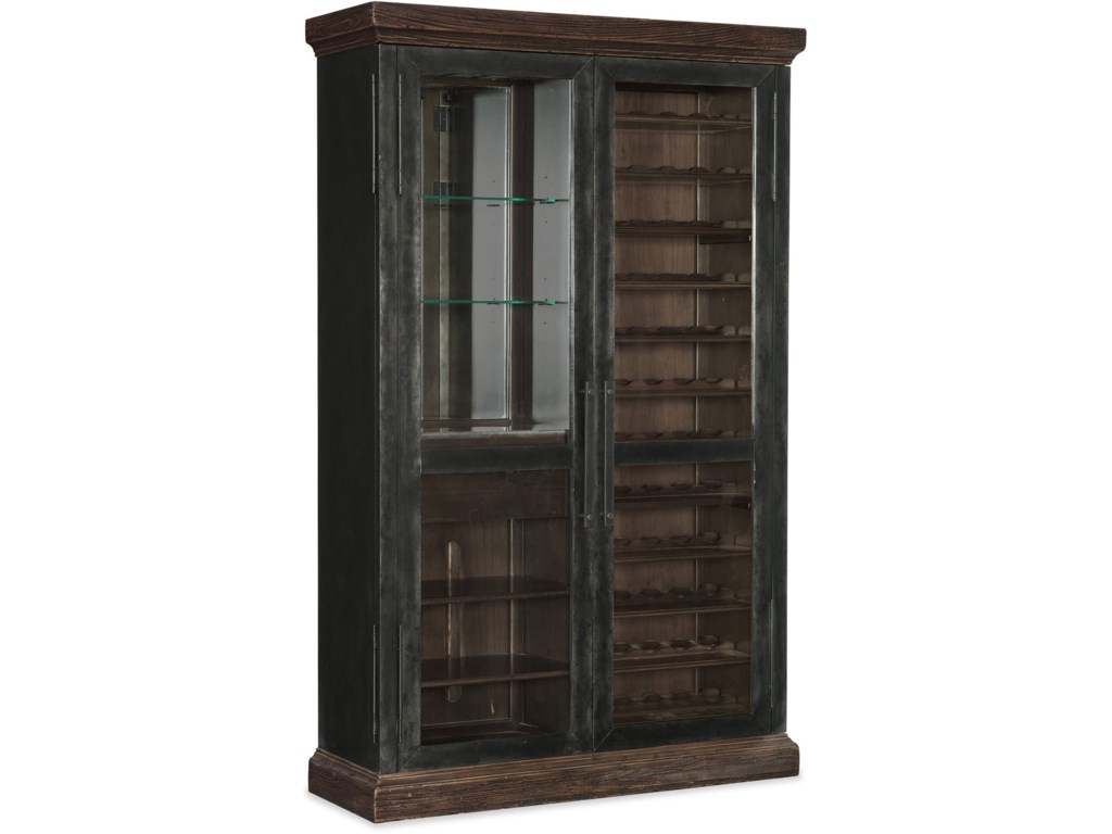 American Life Roslyn County Wine Cabinet With Gl Doors By Furniture