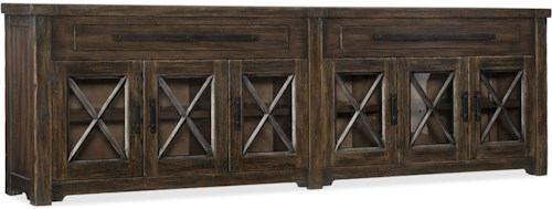 Hooker Furniture American Life - Roslyn County 6 Door Credenza with 2 Storage Drawers