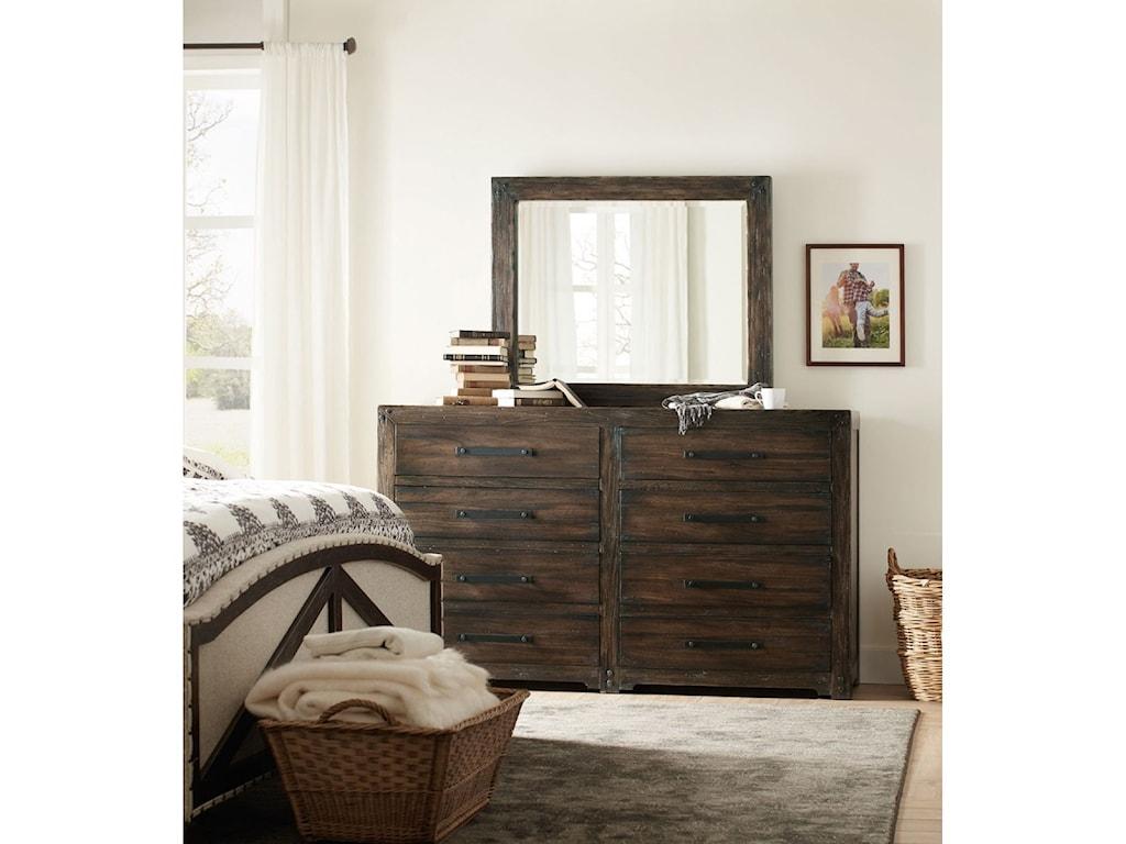 Hooker Furniture American Life - Roslyn CountyLandscape Mirror
