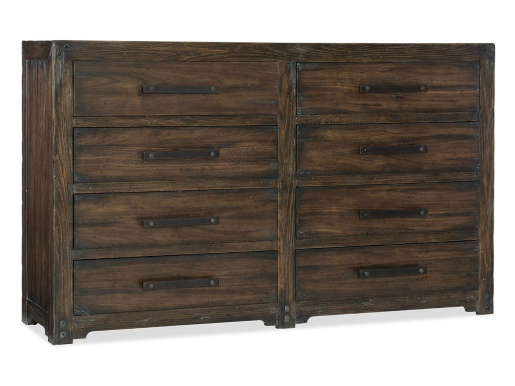 Hooker Furniture American Life - Roslyn CountyEight-Drawer Dresser