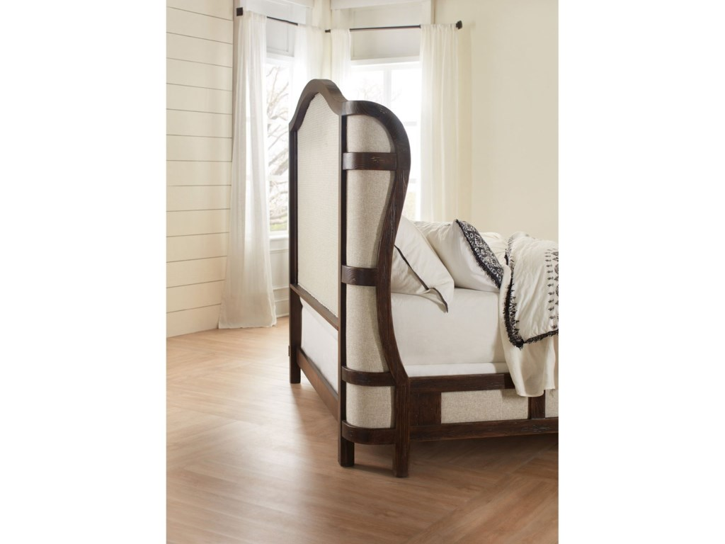 Hooker Furniture American Life - Roslyn CountyQueen Deconstructed Upholstered Panel Bed