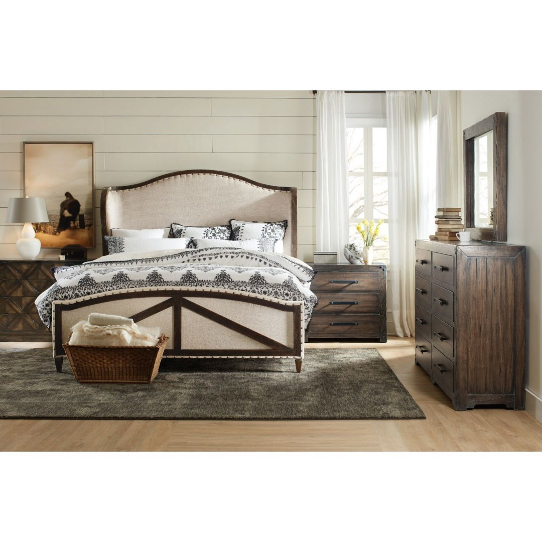 ... Hooker Furniture American Life   Roslyn CountyQueen Deconstructed  Upholstered Panel Bed