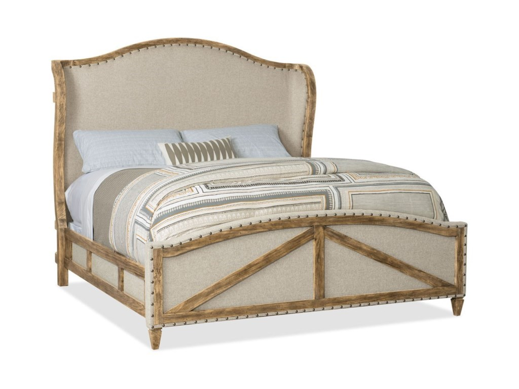 Hooker Furniture American Life - Roslyn CountyKing Deconstructed Uph Panel Bed