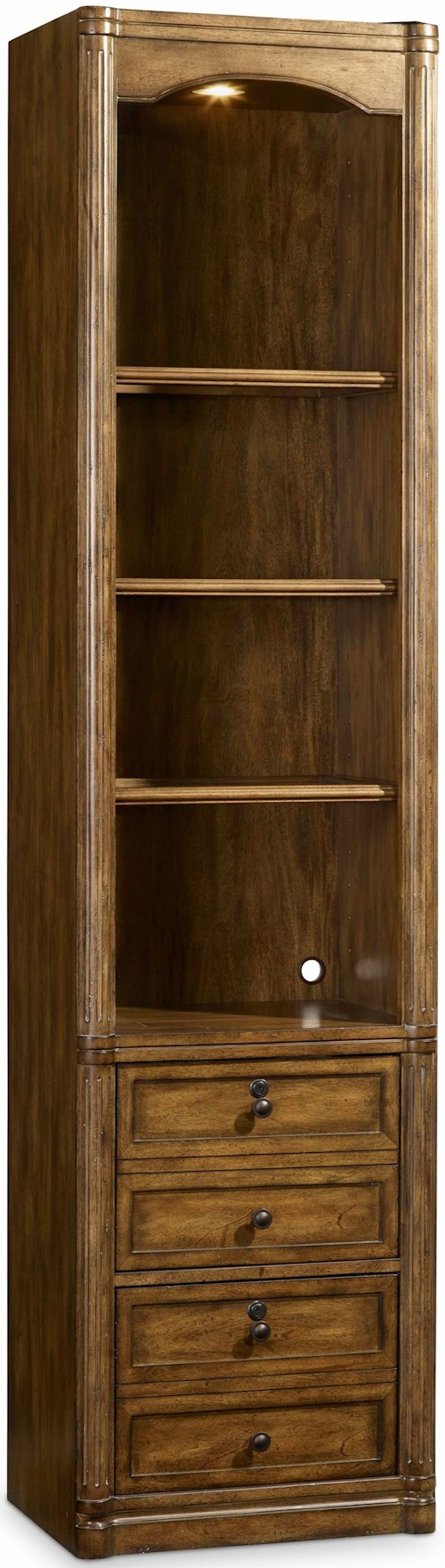 Hooker Furniture Saint Armand Wall Storage Cabinet with Locking File Drawers