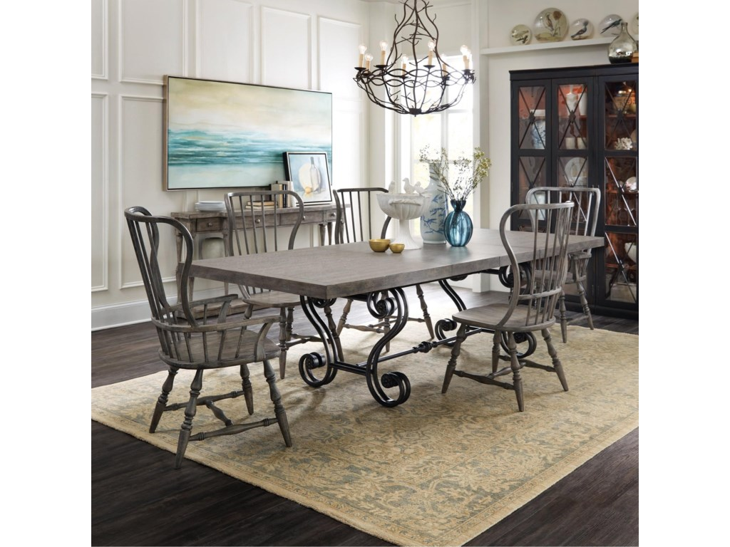 Hooker Furniture Sanctuary7 Piece Table and Chair Set