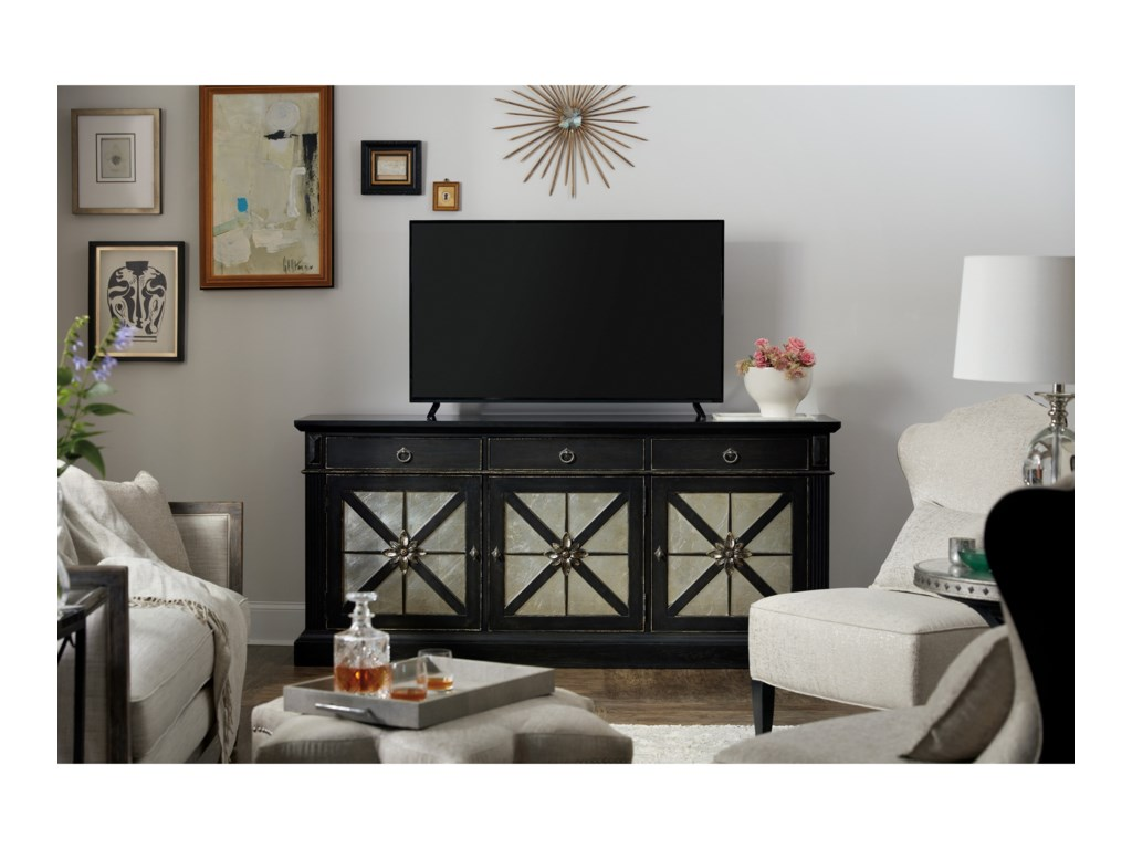 Hooker Furniture SanctuaryPremier Entertainment Console Noir