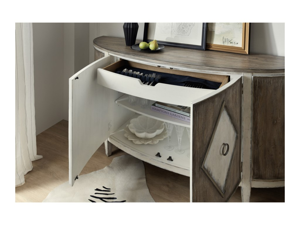 Hooker Furniture SanctuaryEt Jolie Demilune Buffet