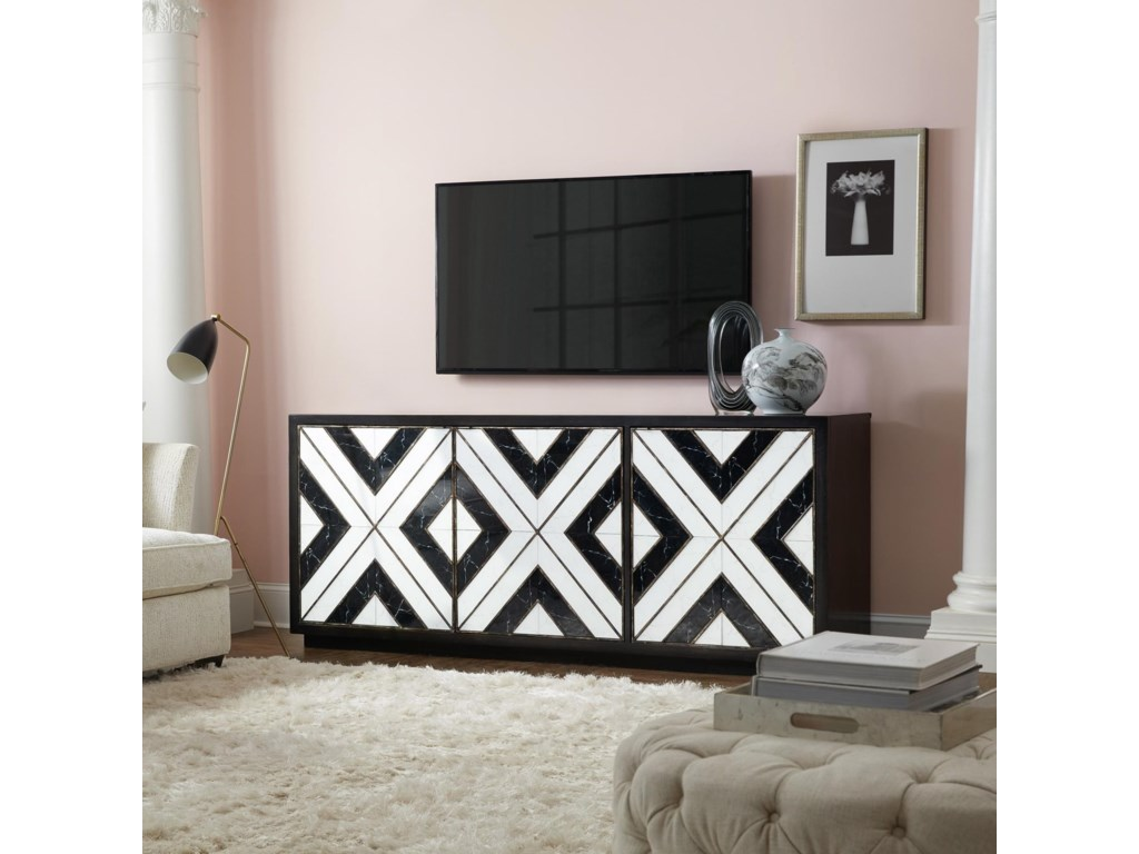 Hooker Furniture SanctuaryNoir Et Blanc Entertainment Consol