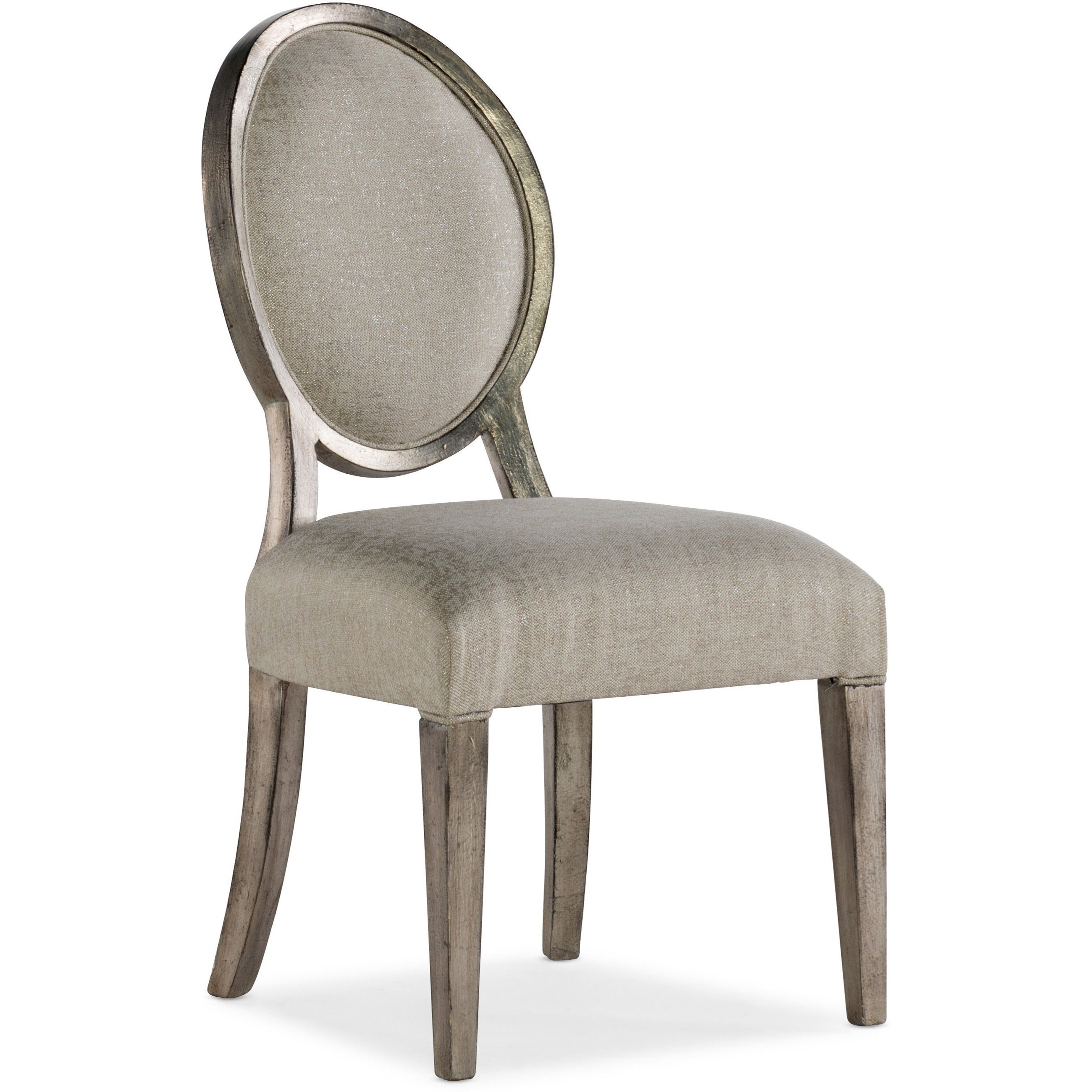 Traditional Romantique Oval Side Chair