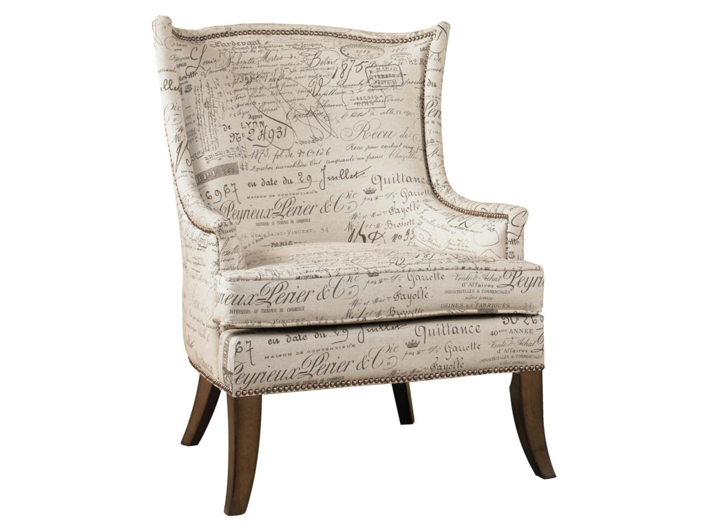 Accent Chairs.Sanctuary Paris Accent Chair With Exposed Wood Legs By Hamilton Home At Rotmans