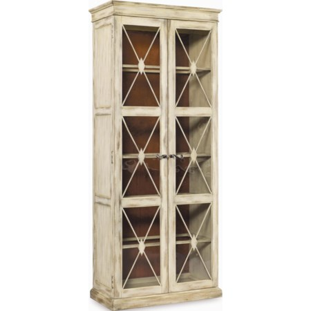 Two Door Thin Display Cabinet