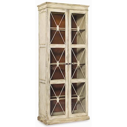 Hooker Furniture Sanctuary Two Door Thin Display Cabinet