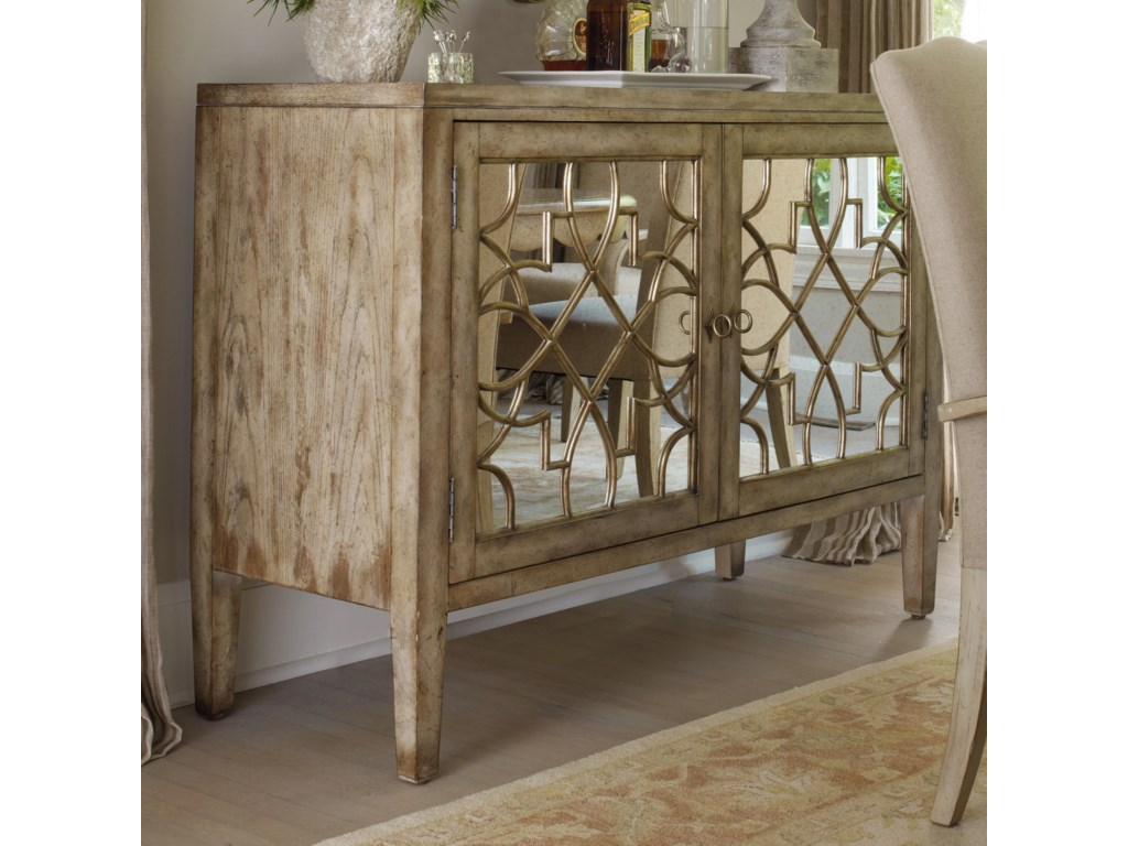 Hooker Furniture SanctuaryTwo Door Mirrored Console