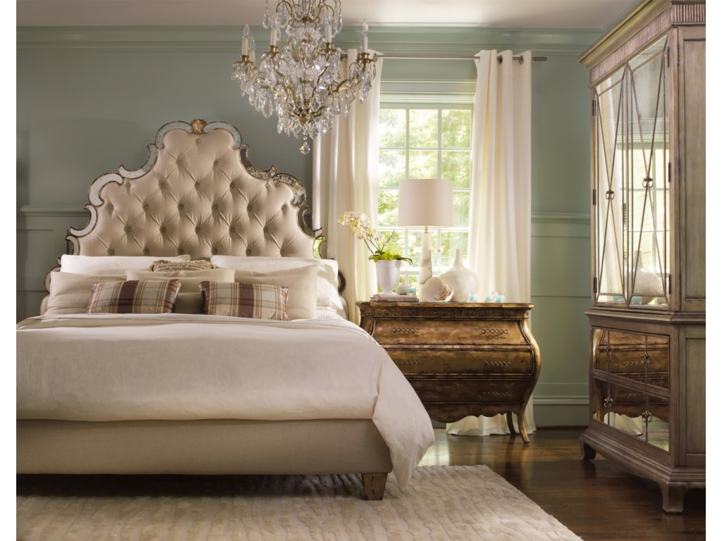 Shown with Tufted Bed and Bombe Chest
