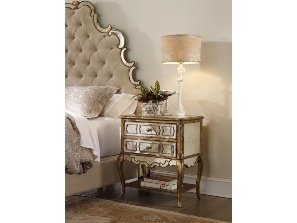 Hooker Furniture SanctuaryMirrored Leg Nightstand