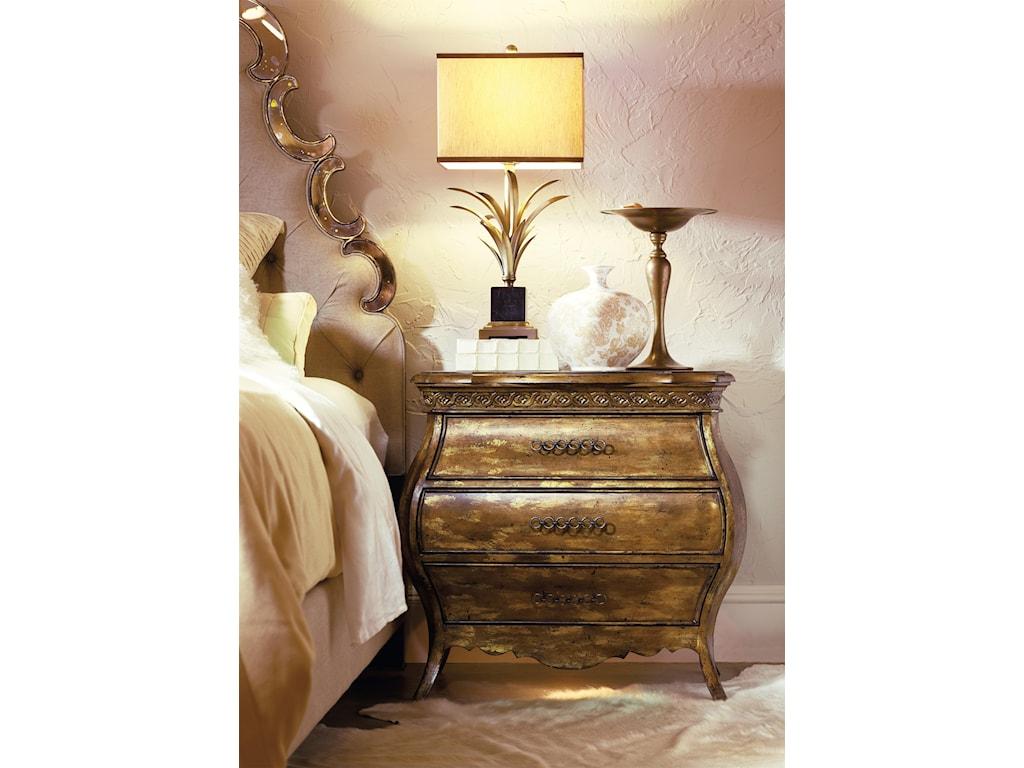 Hooker Furniture SanctuarySmall Bombe Nightstand