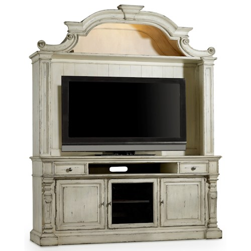 Hooker Furniture Sanctuary3 Two Piece Entertainment Group with Touch Lighting