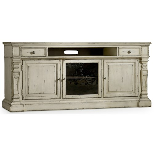 Hooker Furniture Sanctuary3 Entertainment Console with Center Channel Speaker Area