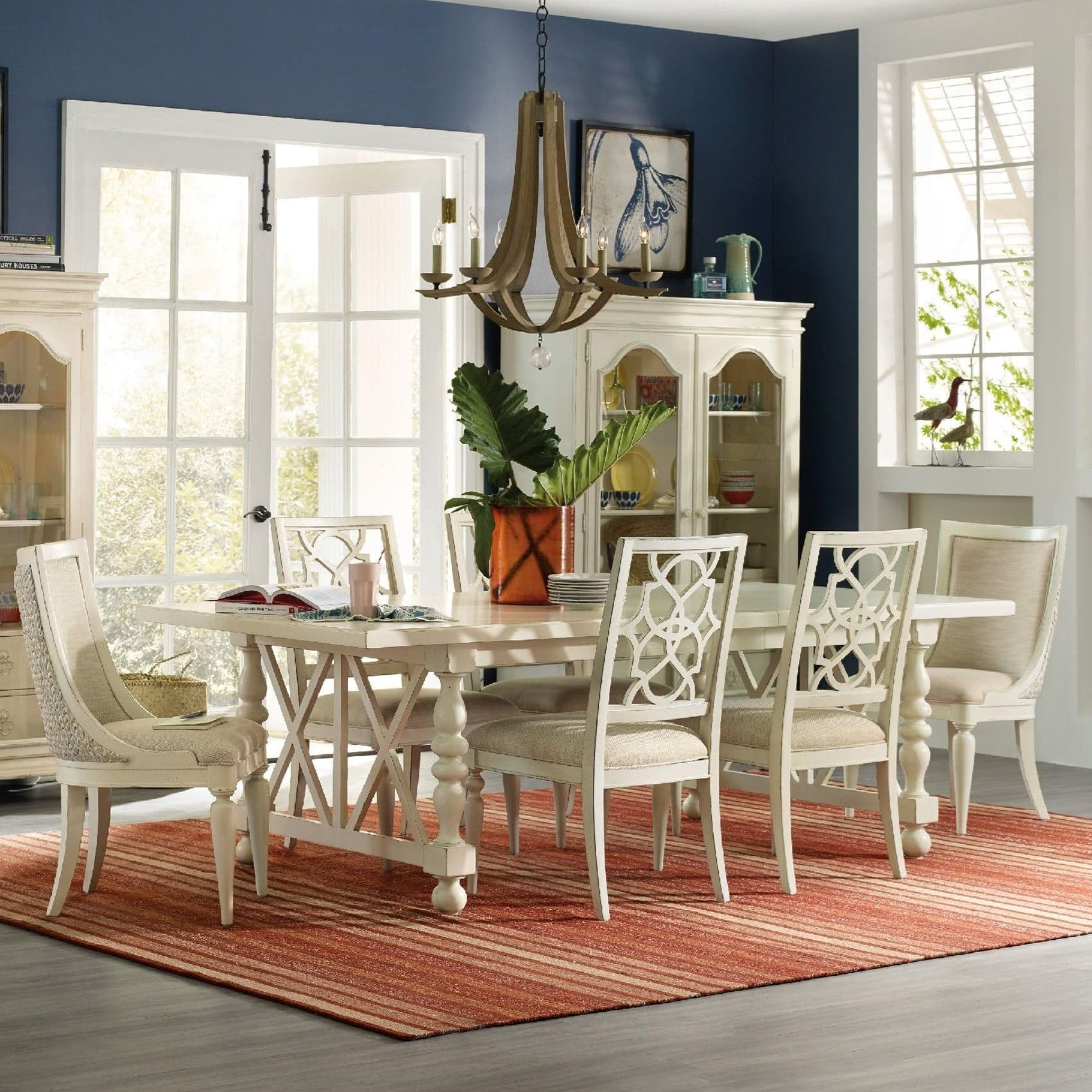 Hooker Furniture Sandcastle 7 Piece Coastal Dining Set