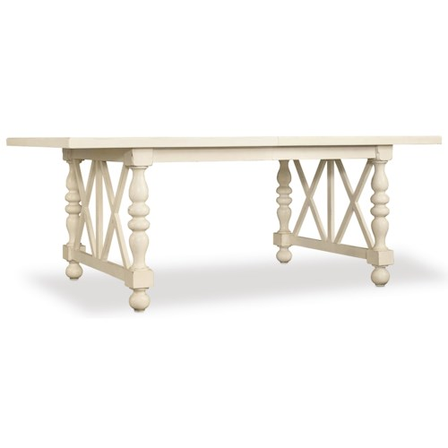 Hooker Furniture Sandcastle 80in Rectangle Dining Table with 2-18in Leaves
