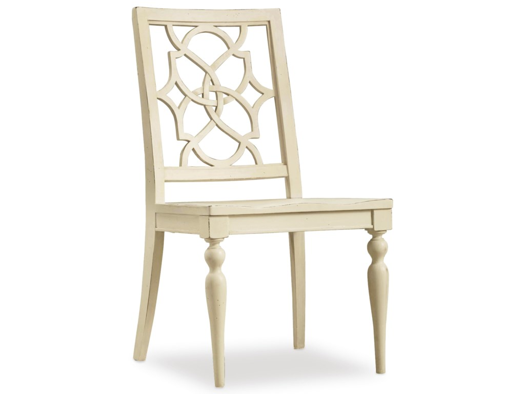 Hooker Furniture SandcastleFretback Side Chair - Wood Seat
