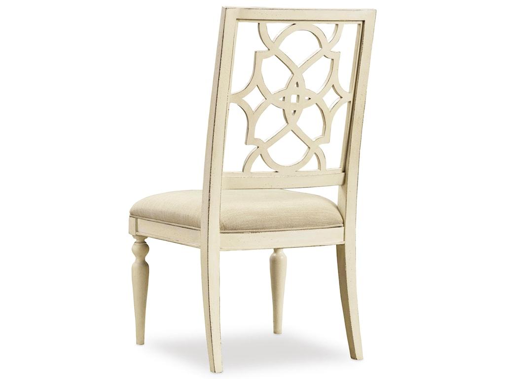 Hooker Furniture SandcastleFretback Side Chair - Upholstered Seat