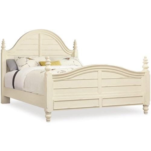 Hooker Furniture Sandcastle King Wood Panel Bed with Turned Finials ...