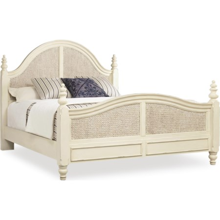 Queen Woven Panel Bed