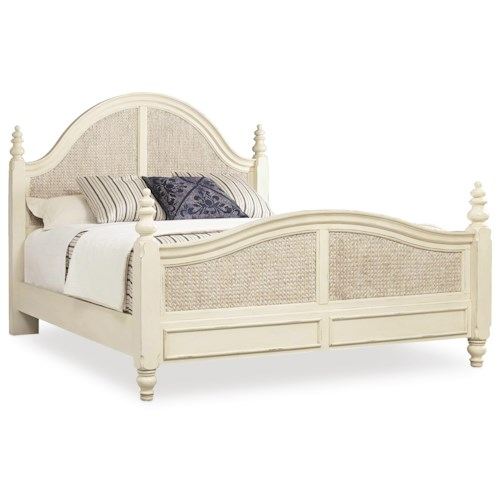 Hooker Furniture Sandcastle Queen Sea Grass Woven Panel Bed