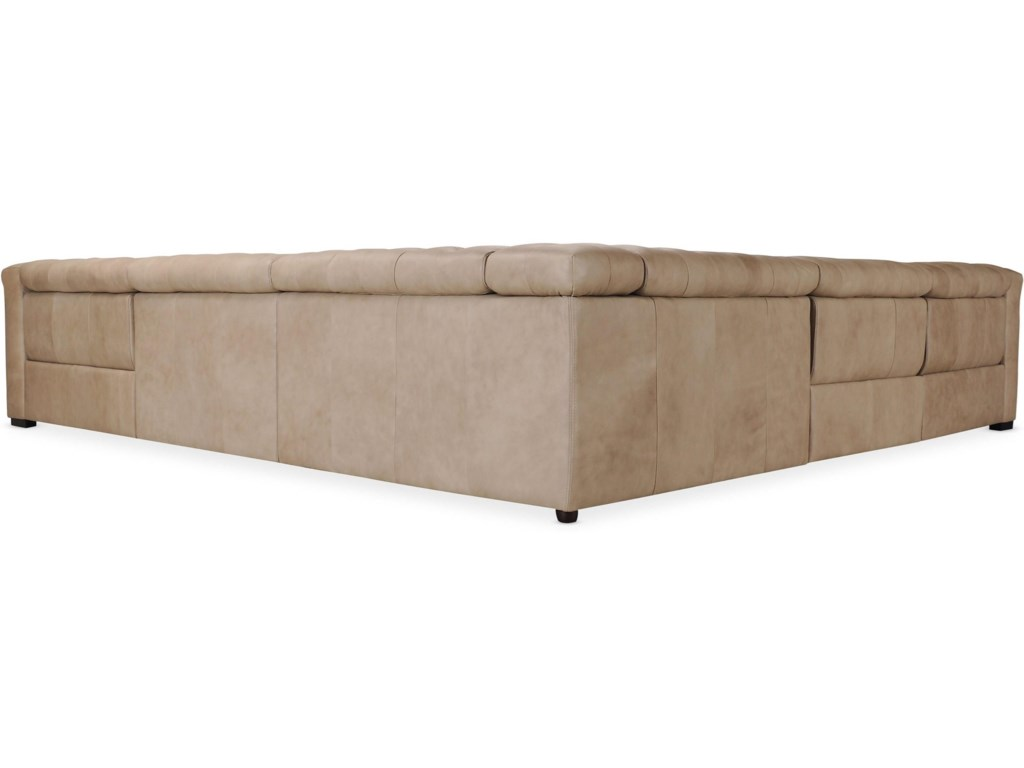 Hooker Furniture SavionGrandier 5-Piece Power Leather Sectional