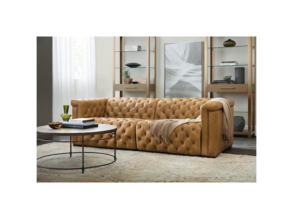 Hooker Furniture SavionPower Leather Motion Sofa