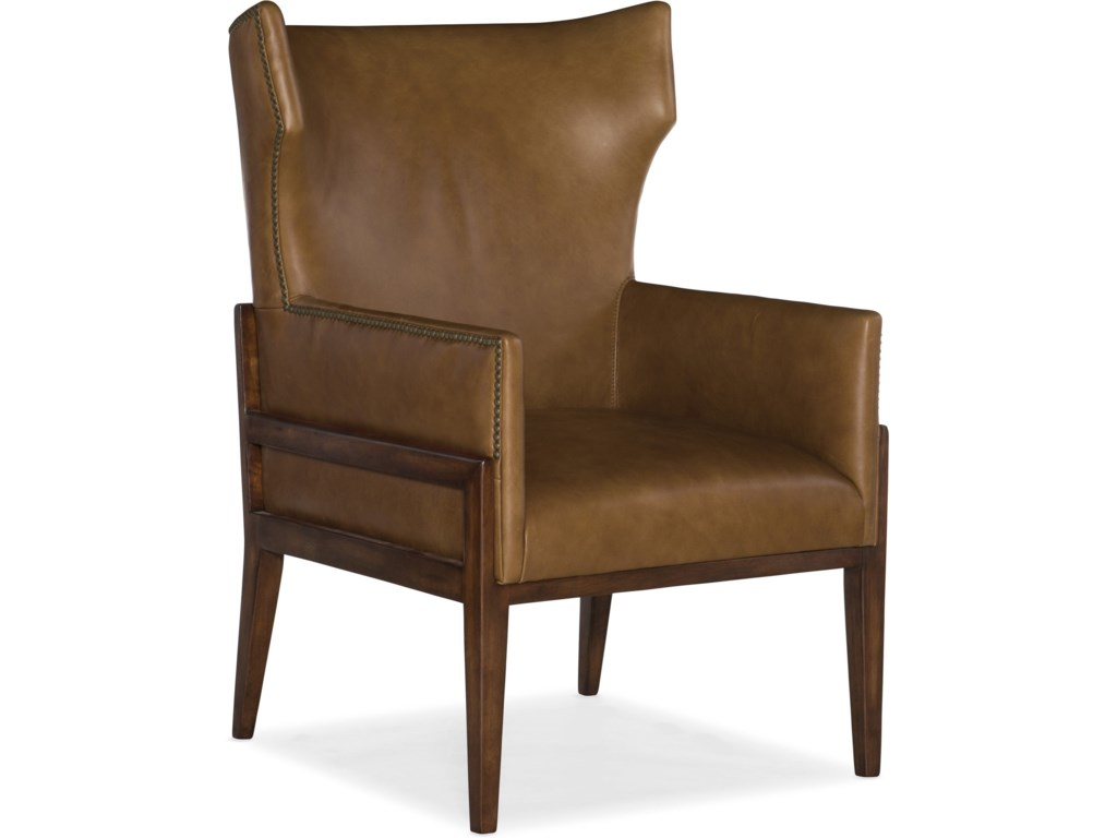Hooker Furniture Club ChairsBurrell Leather Accent Chair