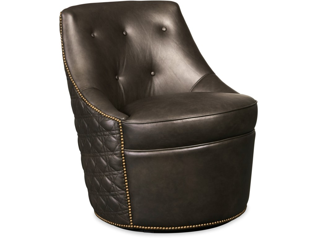 Hooker Furniture Club ChairsSegura Leather Swivel Accent Chair