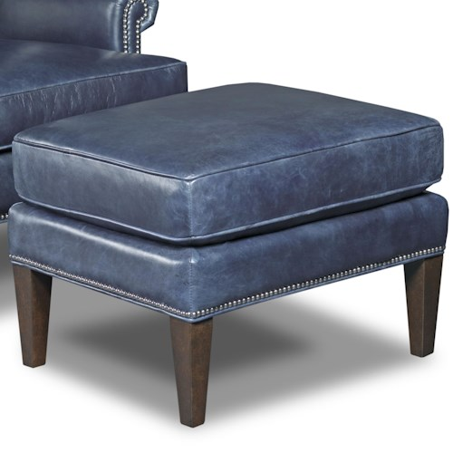 Hooker Furniture Club Chairs Ottoman with Nailhead Trim