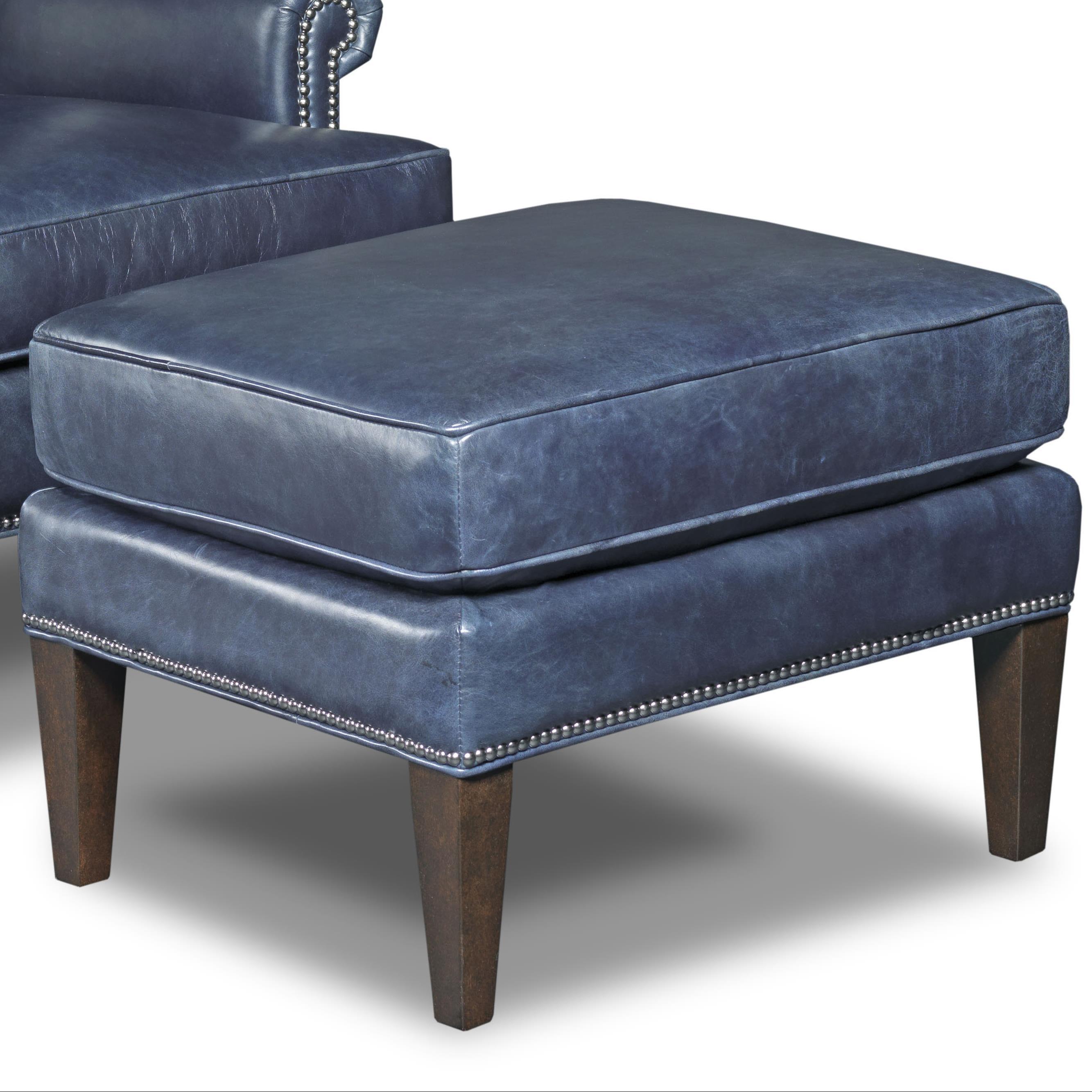 Hooker Furniture Club Chairs Ottoman With Nailhead Trim   Baeru0027s Furniture    Ottomans