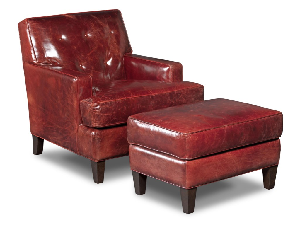 Hooker Furniture Club ChairsCovington Bogue Chair and Ottoman