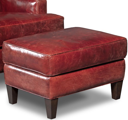 Hooker Furniture Club Chairs Covington Bogue Leather Ottoman