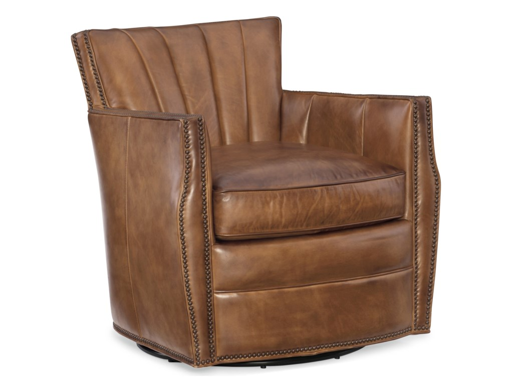 Hooker Furniture Club ChairsCarson Swivel Club Chair