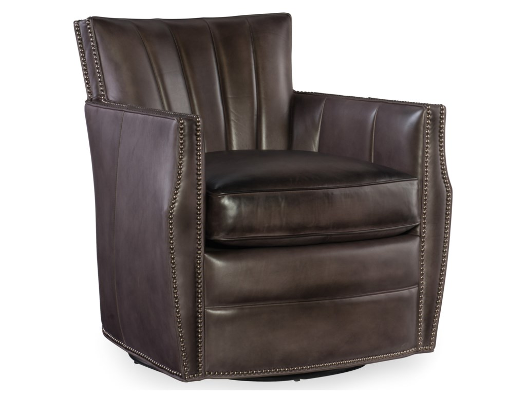 Hooker Furniture Club ChairsCarson Swivel Club Chair