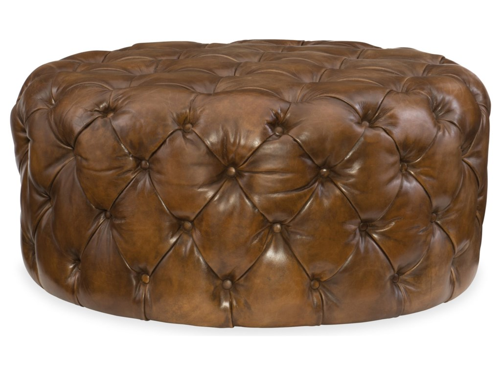 Hooker Furniture Club ChairsHazel Round Ottoman