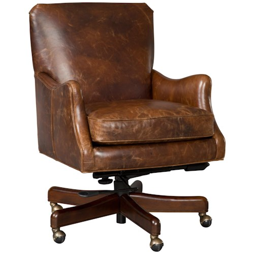 Hooker Furniture Executive Seating Executive Tilt Swivel Chair Thin Track Arms
