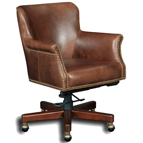 Hooker Furniture Executive Seating Executive Tilt Swivel Chair with Nailhead Trim