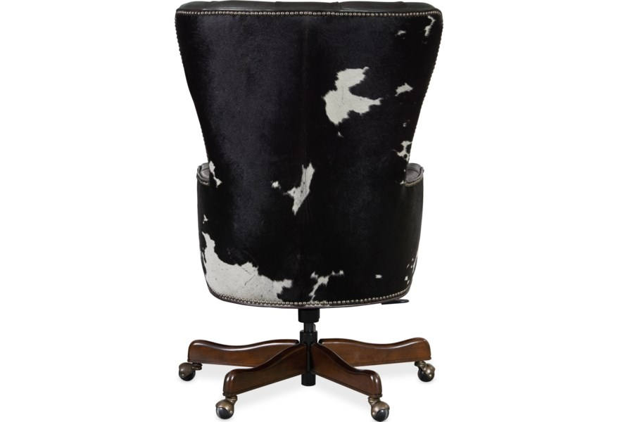 Hooker Furniture Executive Seating Ec448 097 Traditional Home Office Chair With Tufting Baer S Furniture Executive Desk Chairs